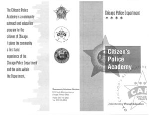 Citizen's Police Academy brochure