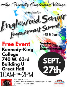 age friendly Englewood Village presents Senior Empowerment summit September 27th, 2019