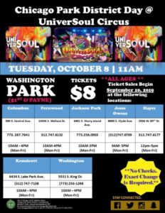 Chicago park District Day at UniverSoul Circus